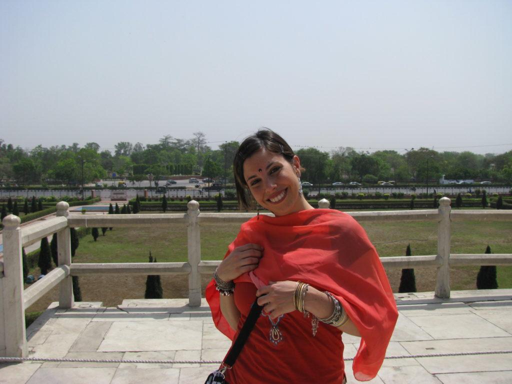 Mujer viajando sola por la India