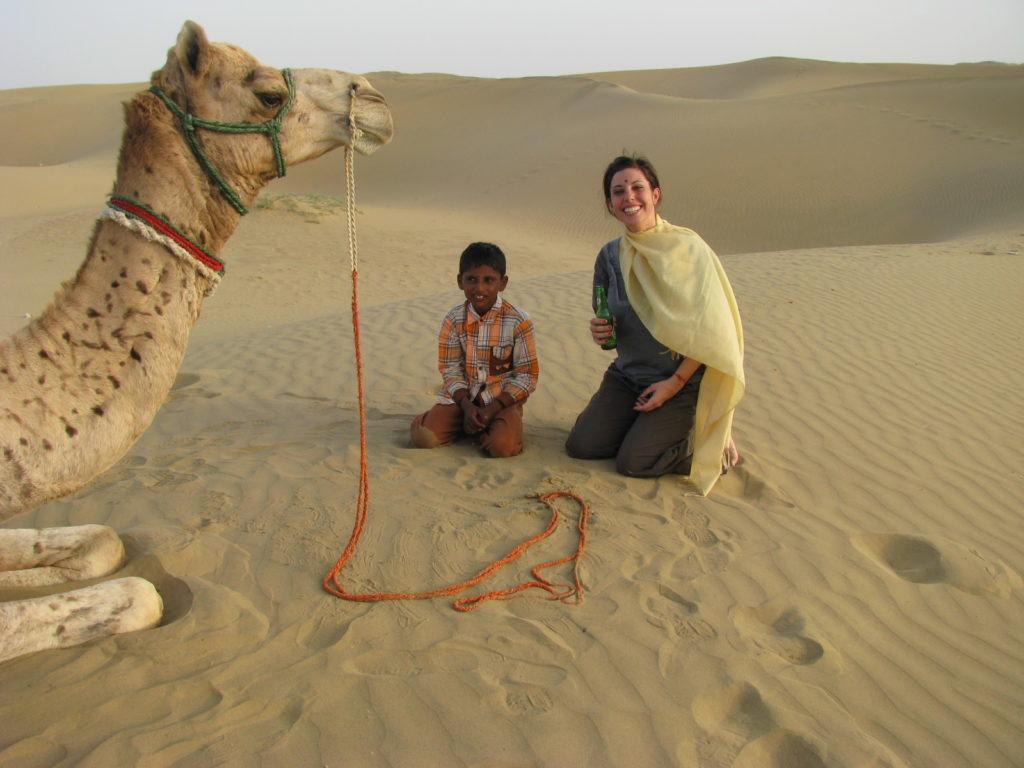 Mujer viajando sola por la Rajasthan