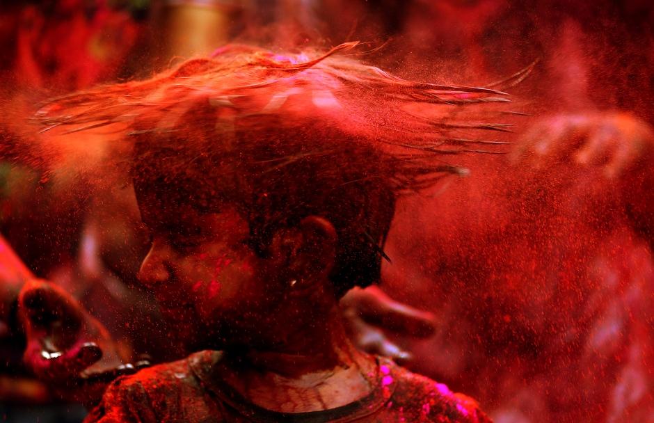 El Festival de Colores Holi En India