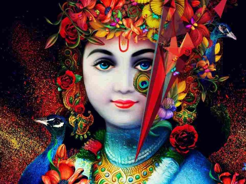 Celebran en India festival Janmashtami