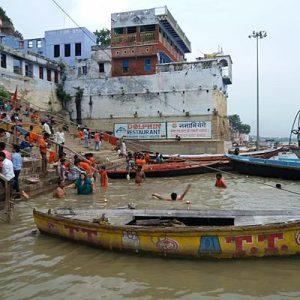 bathing ghat in varanasi